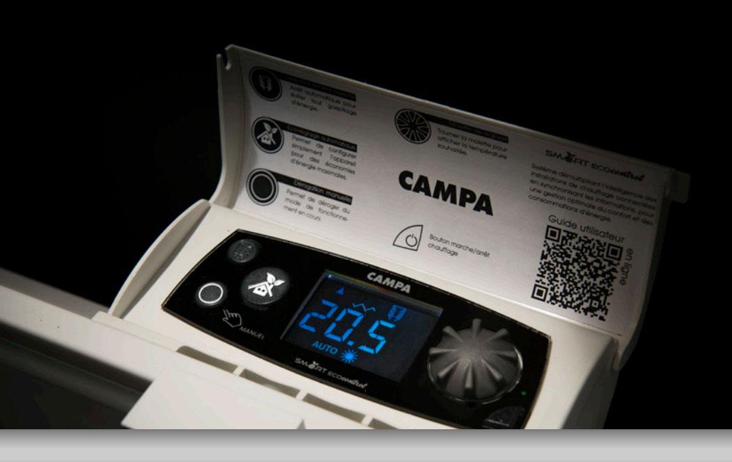 campa jobel 3 0 smart ecocontrol horizontal blanc jobd08hbccb jobd10hbccb jobd13hbccb. Black Bedroom Furniture Sets. Home Design Ideas