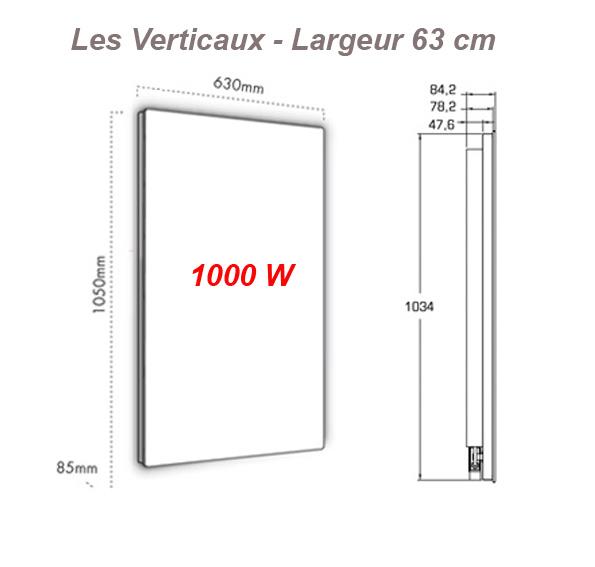 fondis solaris soft touch vertical largeur 63 cm avec thermostat fondis solaris. Black Bedroom Furniture Sets. Home Design Ideas
