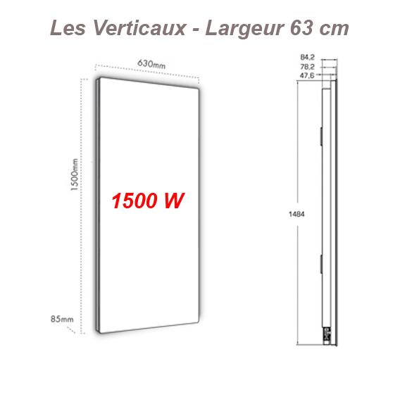 fondis solaris ligne evolution vertical largeur 63 cm avec thermostat int gr fondis. Black Bedroom Furniture Sets. Home Design Ideas