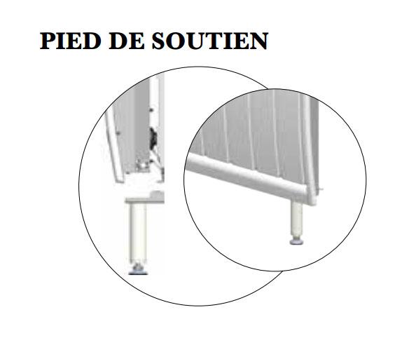 air lec kit pieds pour appareils en fonte a692090. Black Bedroom Furniture Sets. Home Design Ideas